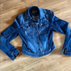 Distressed guess jean jacket
